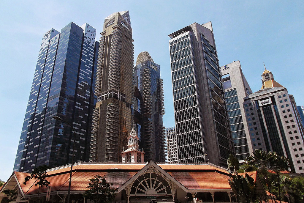 Skyscrapers in Singapore, the powerful city-state