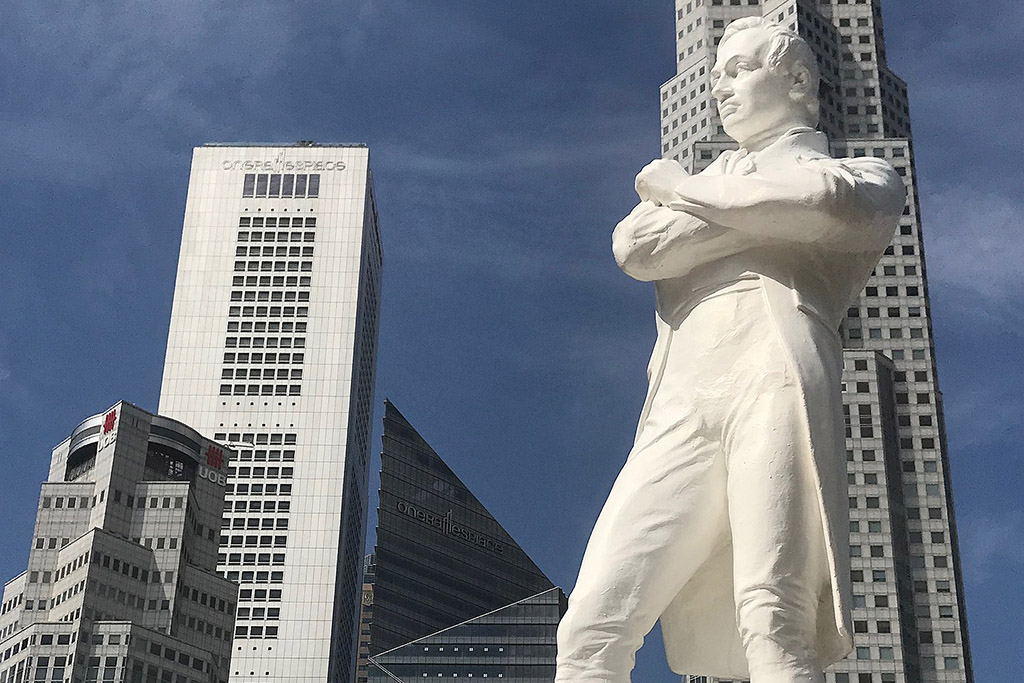 Sir Thomas Stamford Raffles, founder of the powerful city-state of Singapore