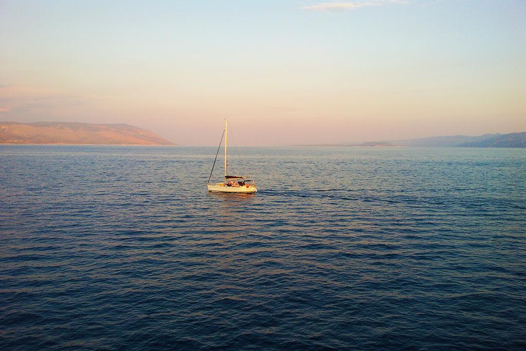 Boat off the Coast of Vela Luka on Korcula