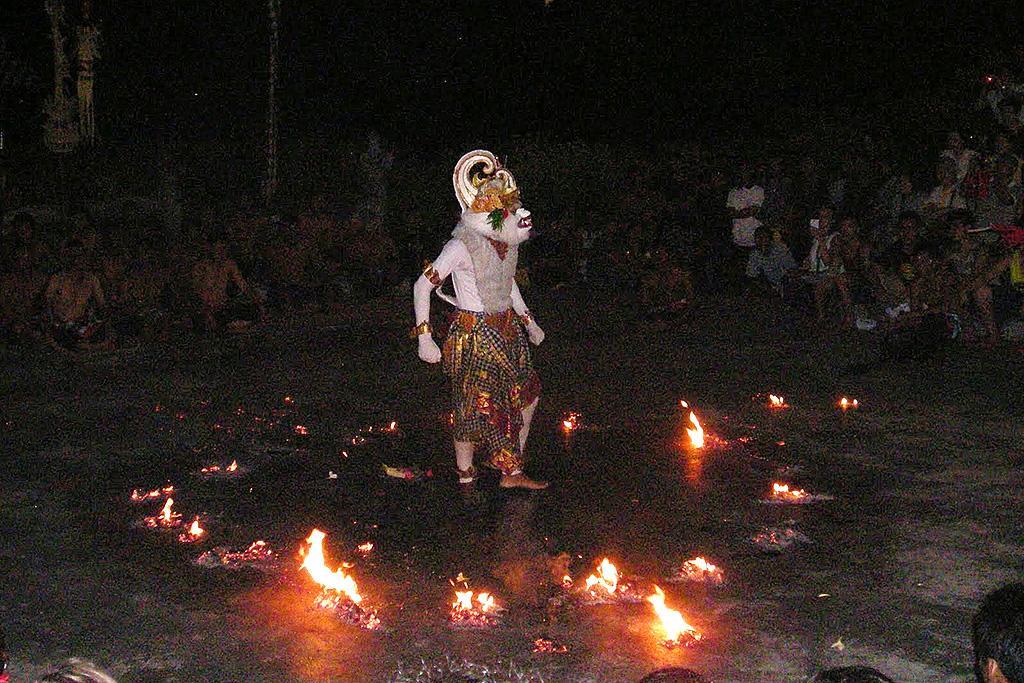 Representation of Hanuman at a Kecak performance