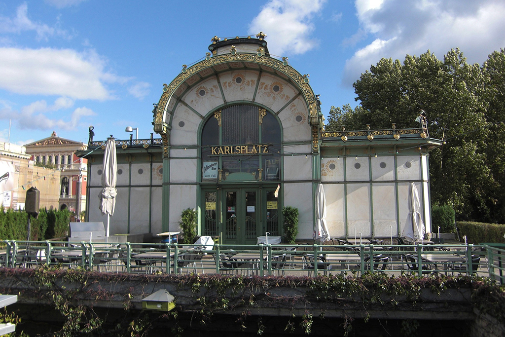 An old train station designed by Otto Wagner