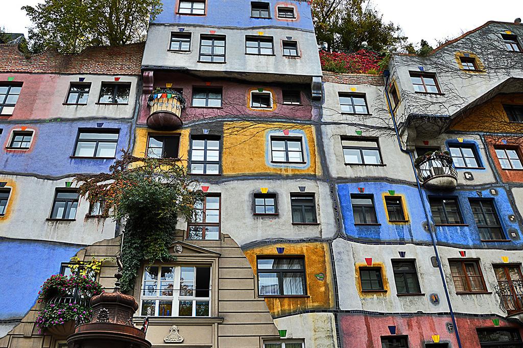 The truly unique Hundertwasserhaus in Vienna.