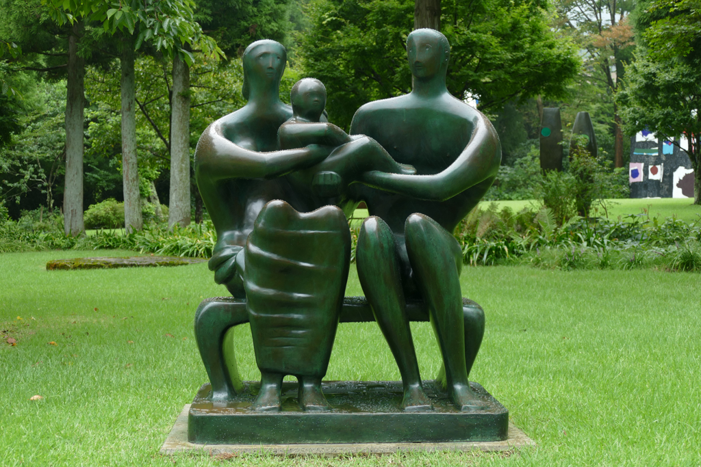 Family Group by Henry Moore at the Hakone Open Air Museum