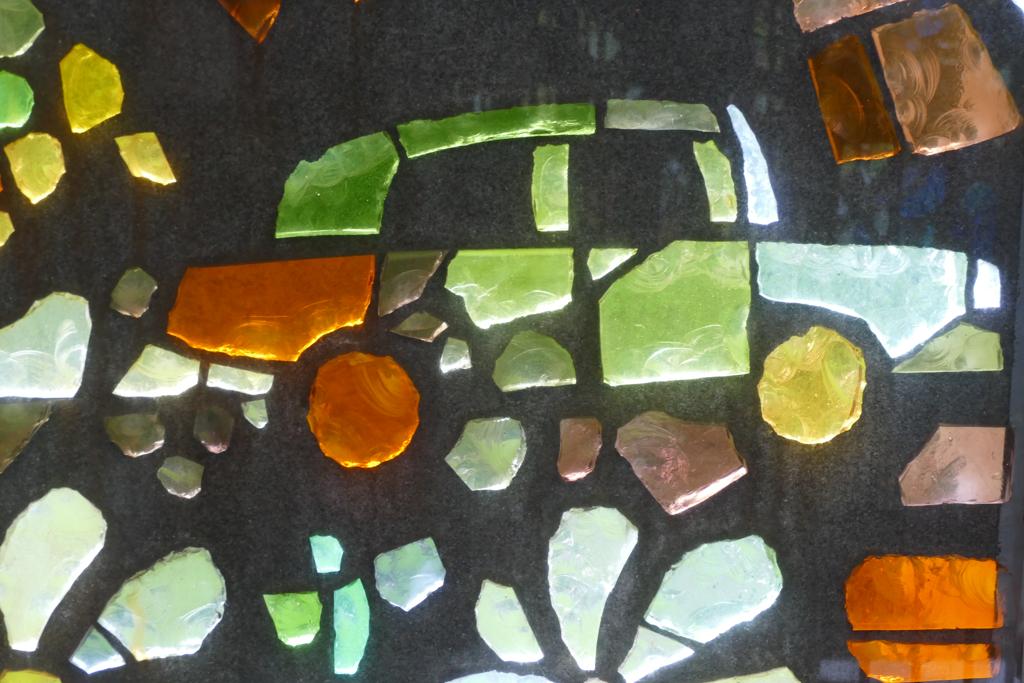 Detail from the Symphonic Sculpture by Gabriel Loire