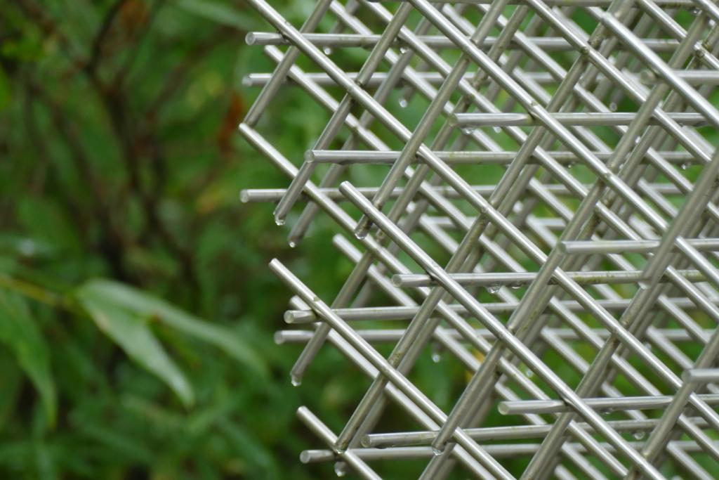 Francois Morellet's sculpture Sphère-Trames at the Hakone Open Air Museum
