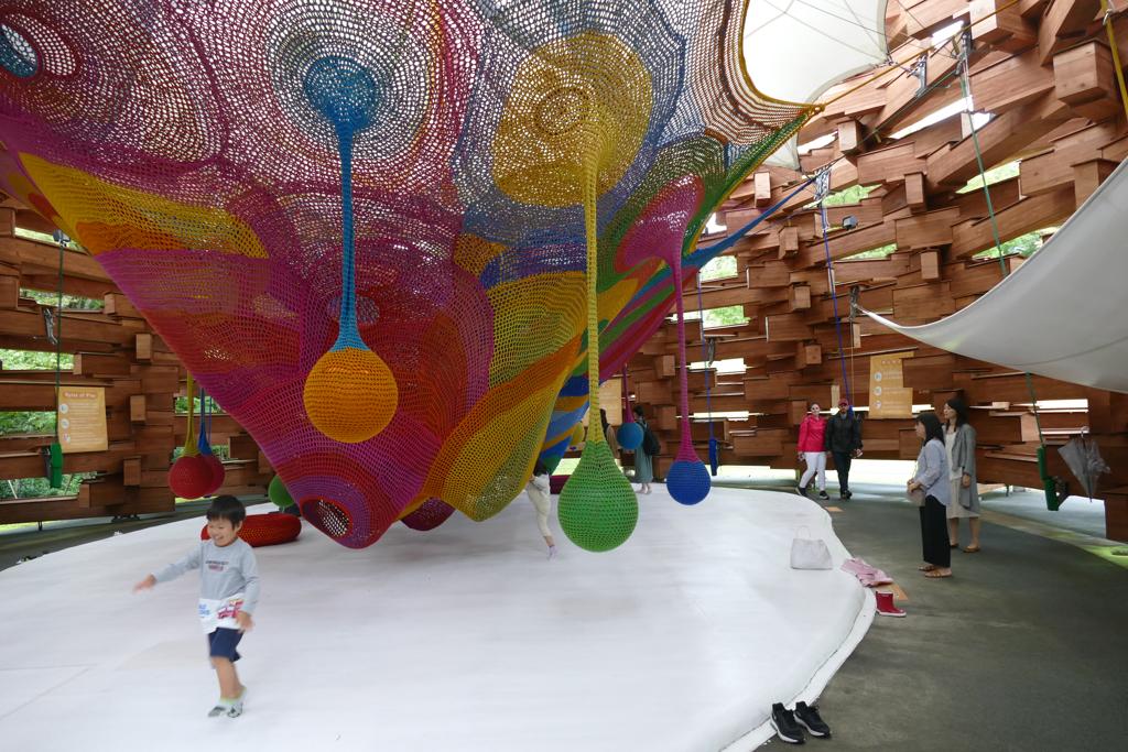Knitted Playground by Japanese artist Toshiko MacAdam