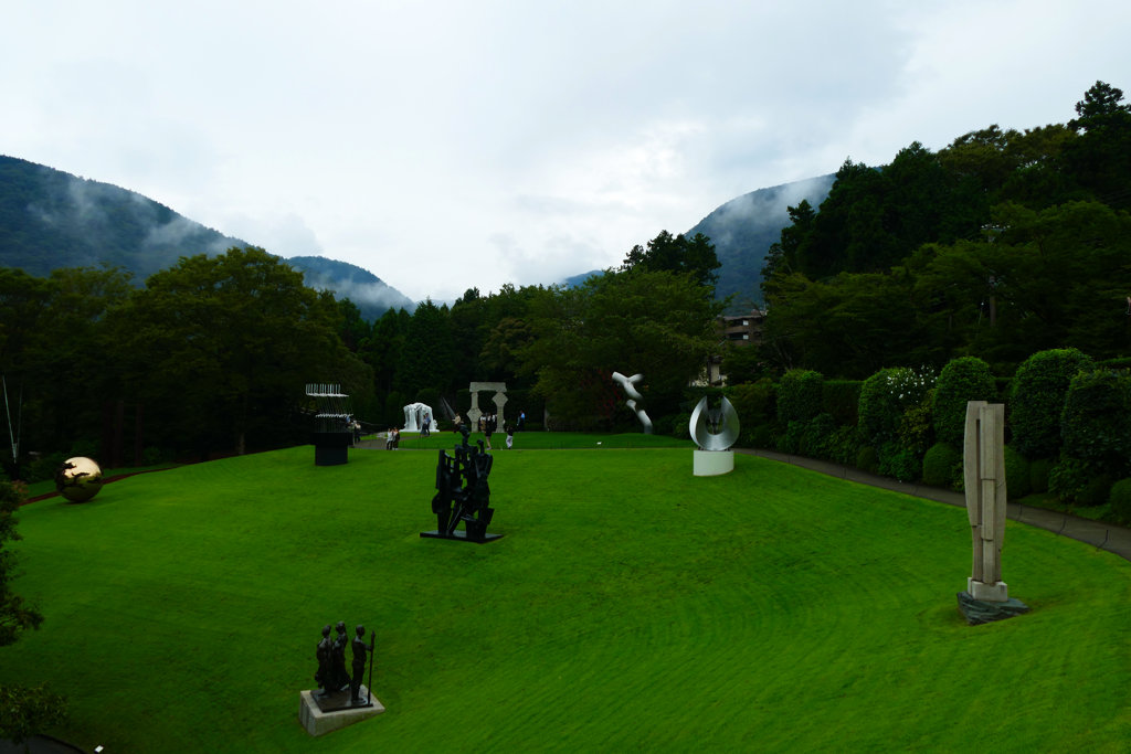 Sculptures at the Open Air Gallery of Hakone