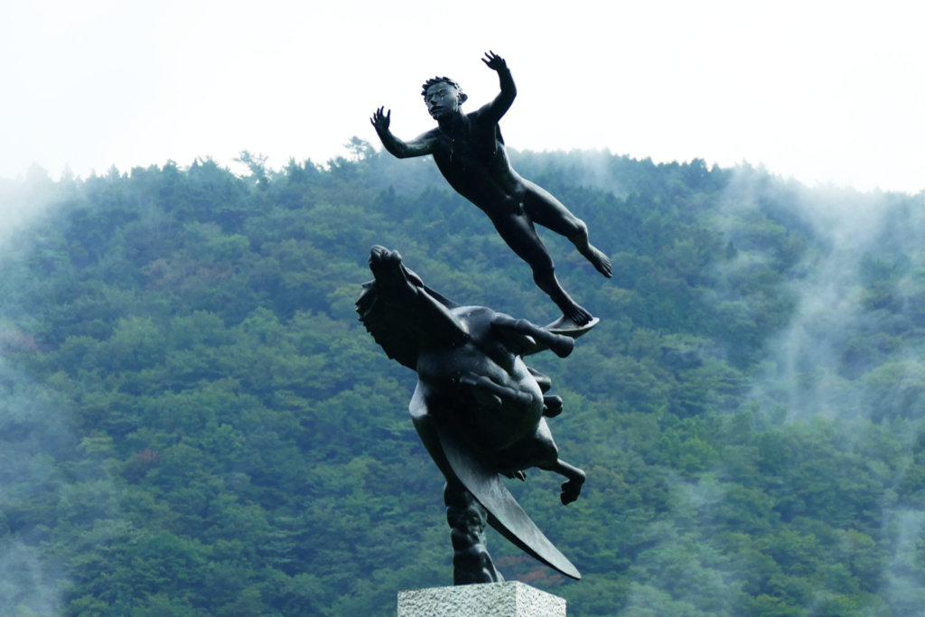 Statue Man and Pegasus by Carl Milles at the Hakone Open Air Museum