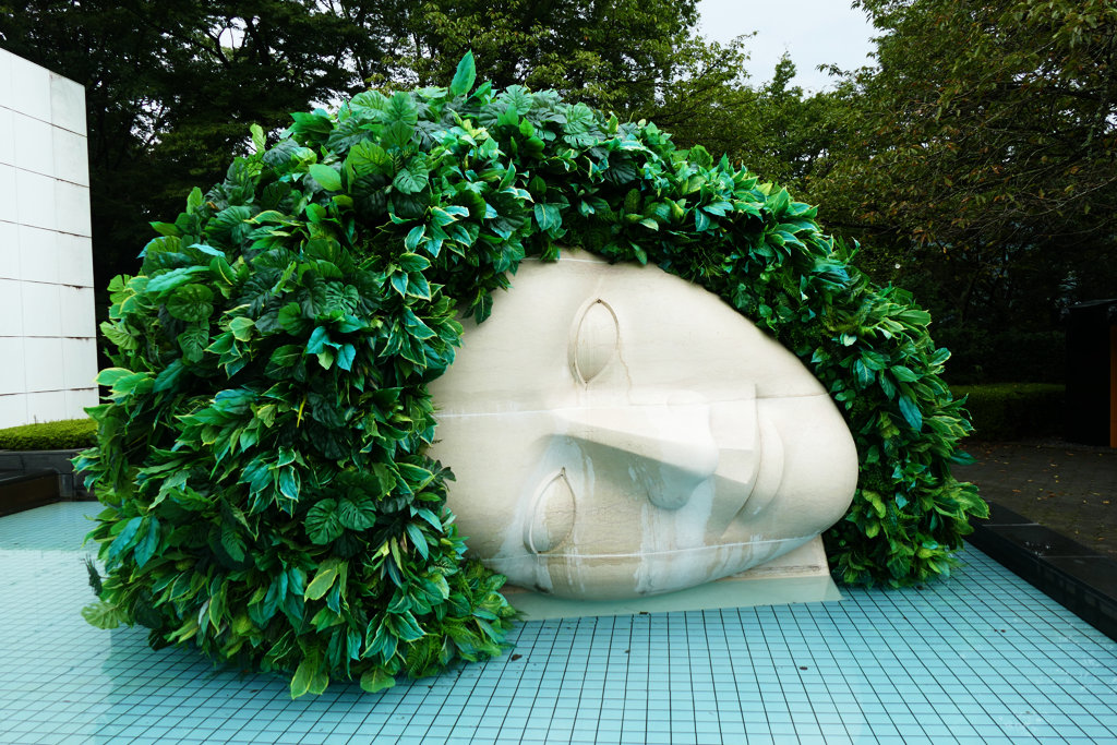 Sculpture La Pleureuse at the Hakone Open Air Museum