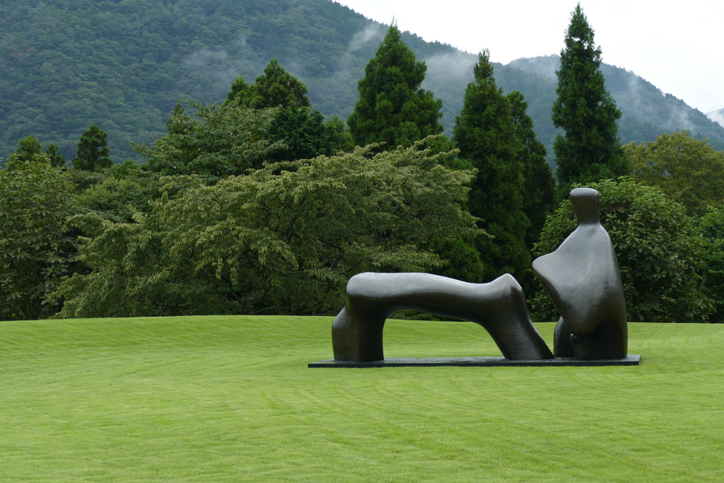 Reclining Figure by Henry Moore at the Hakone Open Air Museum