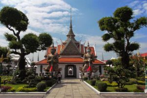 Wat Arun, one of Bangkok's most important temple complexes on the west bank of River Chao Phraya.