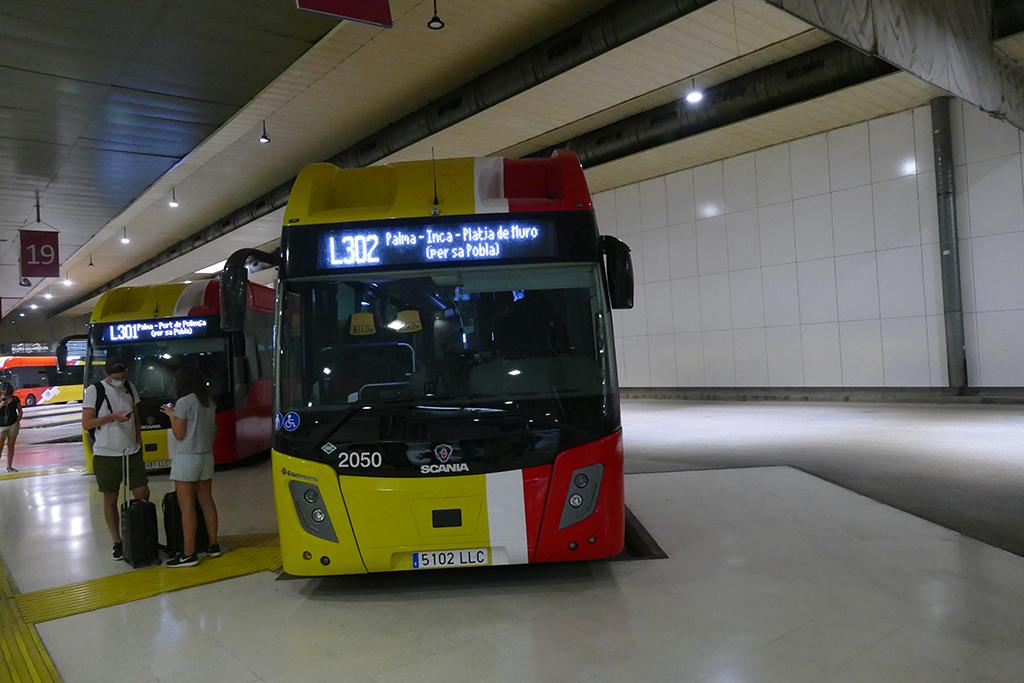 Bus at the Estació Intermodal in Palma de Mallorca
