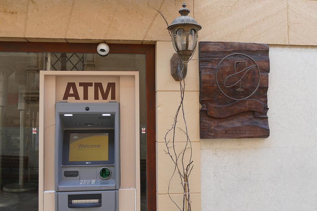 ATM at Alcudia on Mallorca
