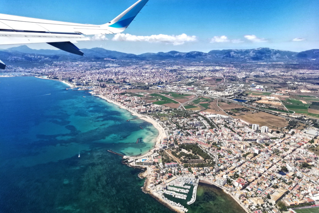 Palma de Mallorca from above