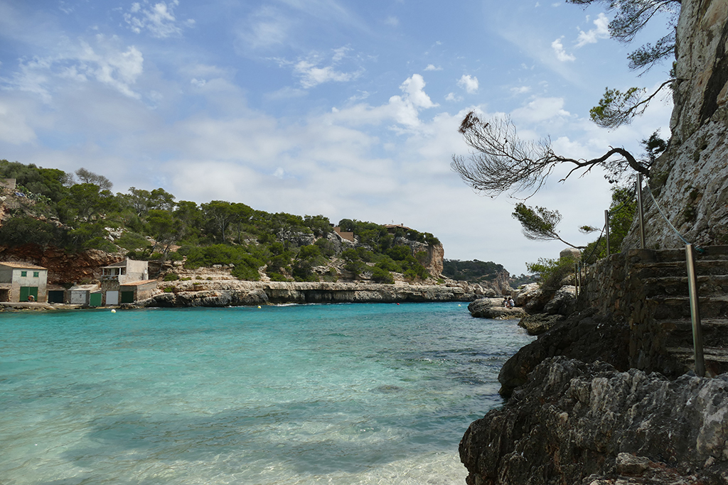 View of Cala Llombards in Mallorca.