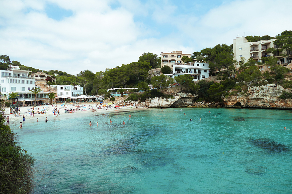 Beach of Cala Santanyí on Mallorca's East Coast.