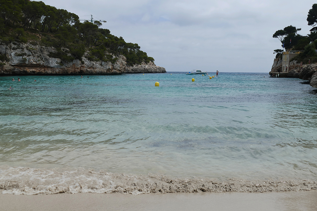 The clear waters of Cala Santanyí on Mallorca's East Coast.
