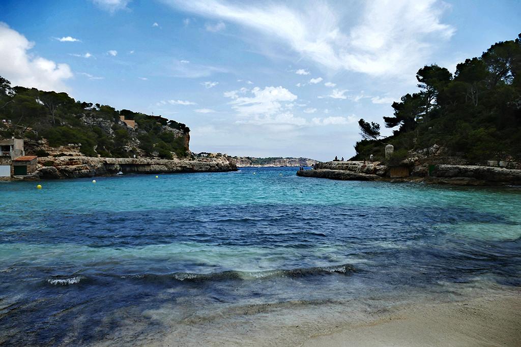 View from Mallorca's east coast at Cala Llombards.