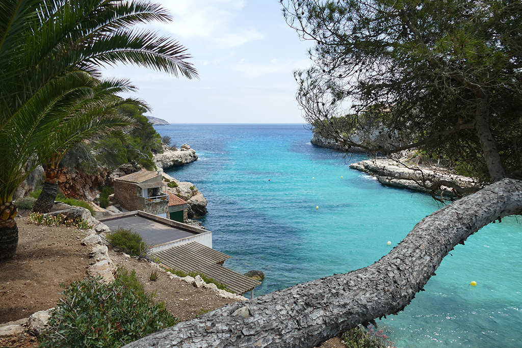 View from Cala Llombards in Mallorca.