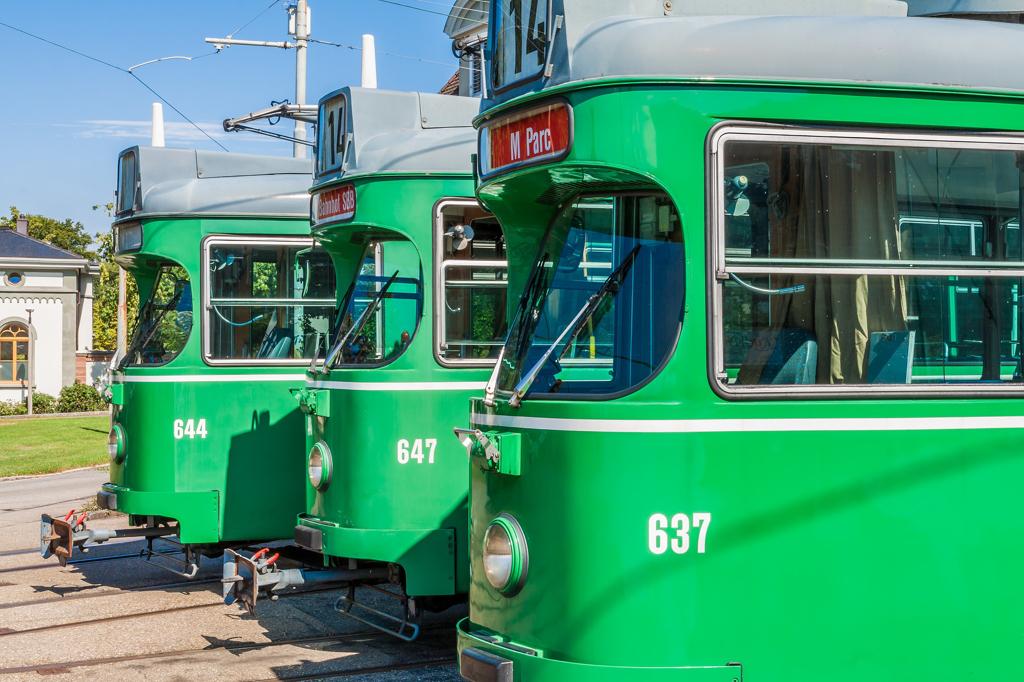 Trams at Basel