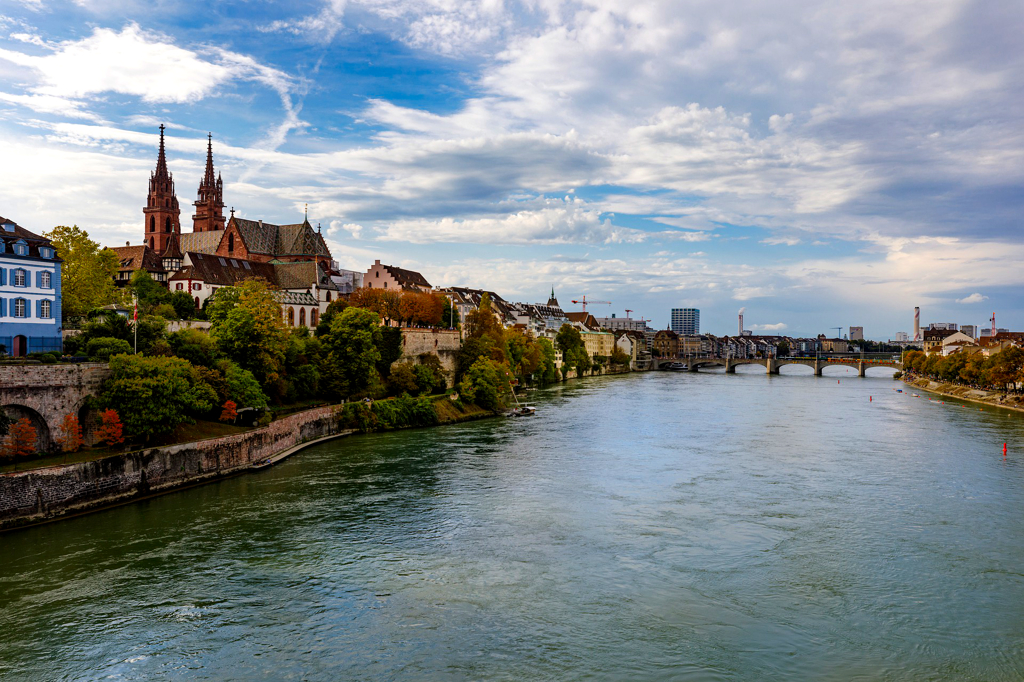 View of the river Rhein at Basel