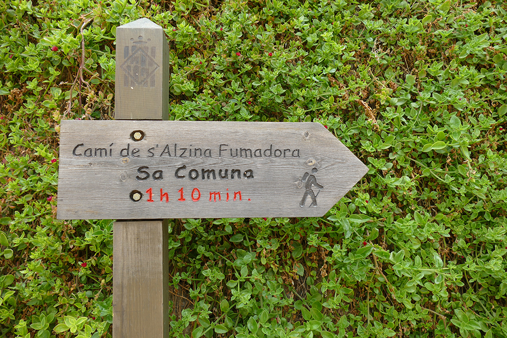 Sign Camí de s' Alzina Fumadora out of Fornalutx