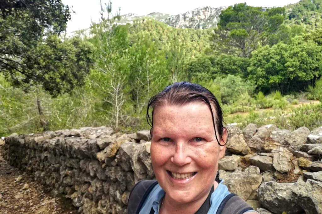 Renata Green on a hike around Puigpunyent