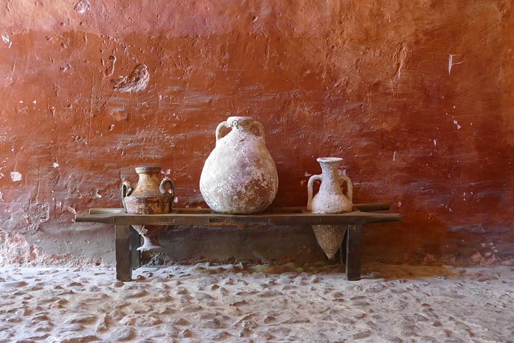 Amphoras and Pots at the Banys Àrabs in Palma de Mallorca
