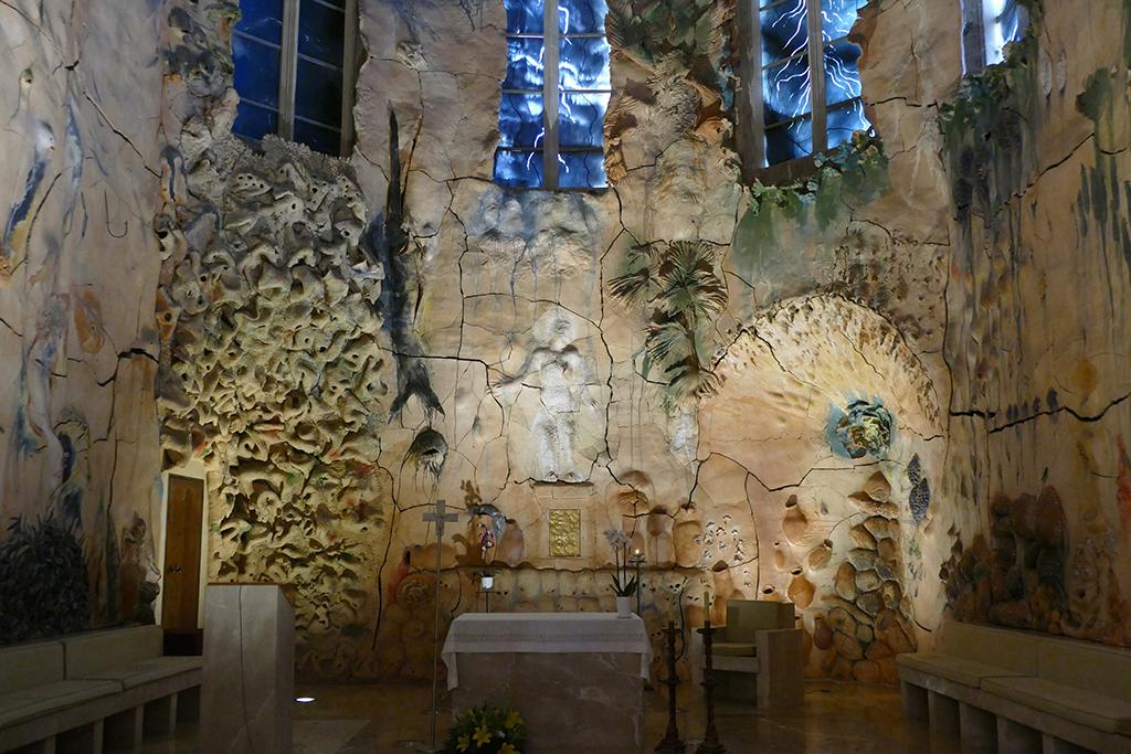 Mural by Miquel Barceló at the Capilla del Santísimo of the Basílica de Santa María en Palma