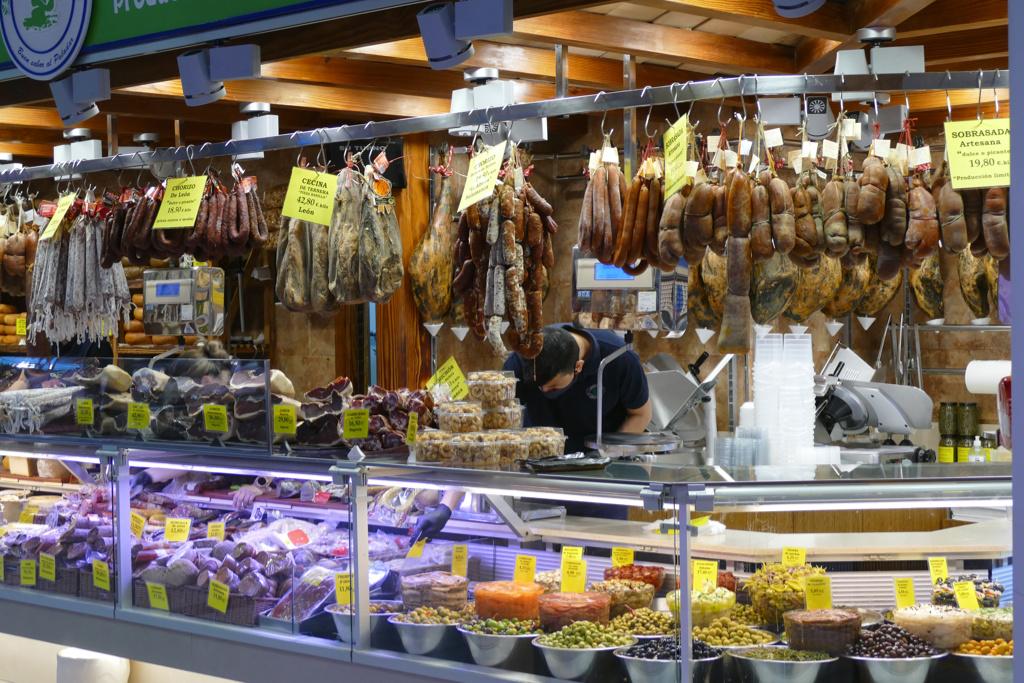 Market stand at the Mercat de l'Olivar