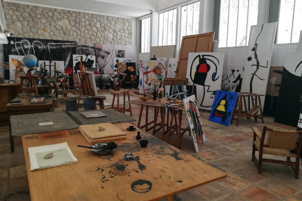 Miro's workshop in Mallorca.