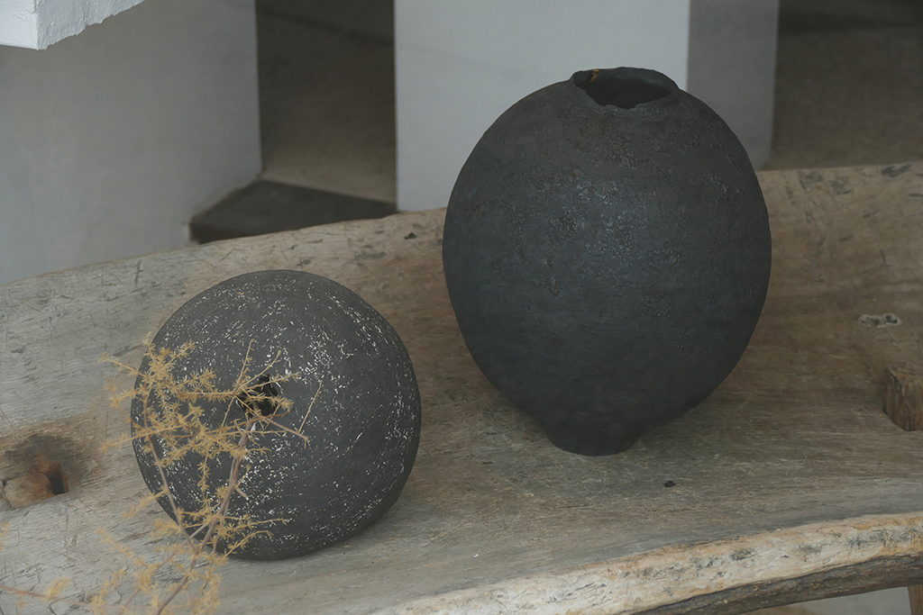 Vases at the Gres Gallery in Deia