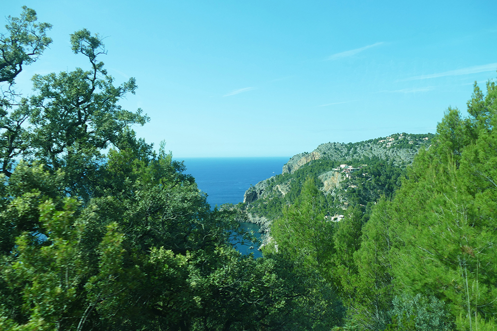 The cliffs and the sea west of Mallorca