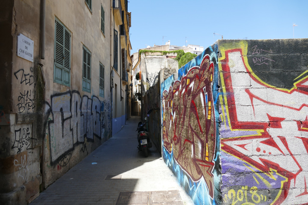 Streetart at Calle Can Gater at Palma de Mallorca