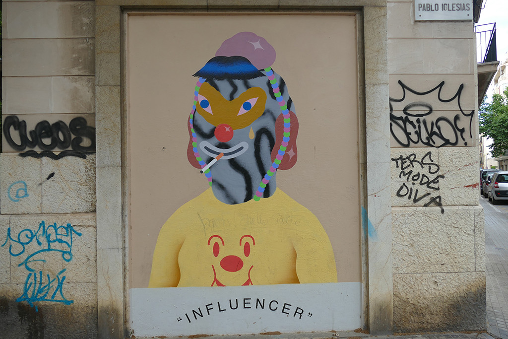 """""""INFLUENCER"""" (Mask of the millennial generation project (II) by Grip Face @gripface_ (Palma, Mallorca, 2019"""