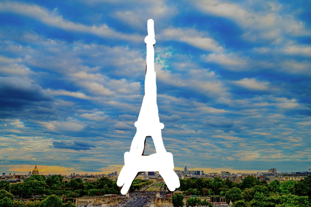 erased eiffel tower