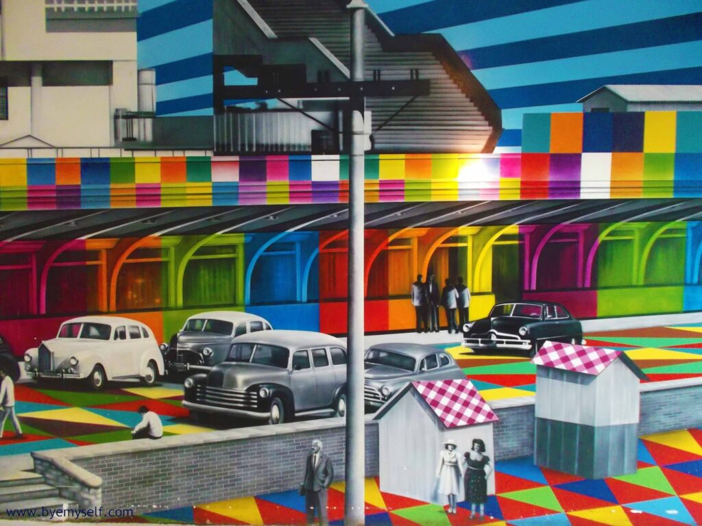 Kobra's colorful interpretation of  Congonhas airport at SÃO PAULO - Brazil's Art Hub