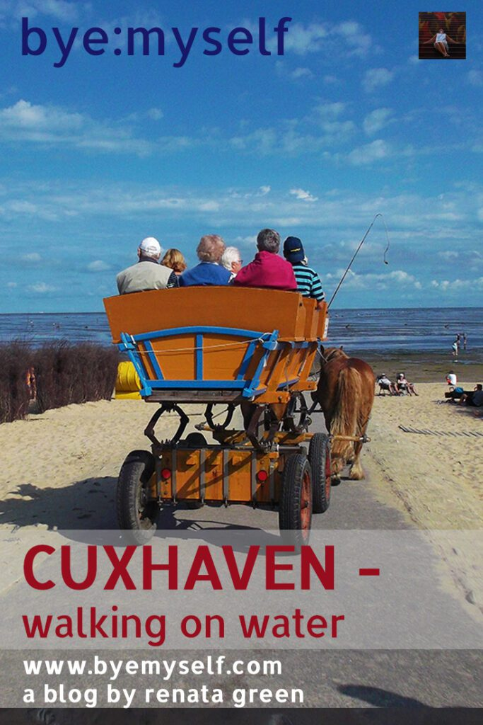 Pinnable Picture for the post on CUXHAVEN - walking on water