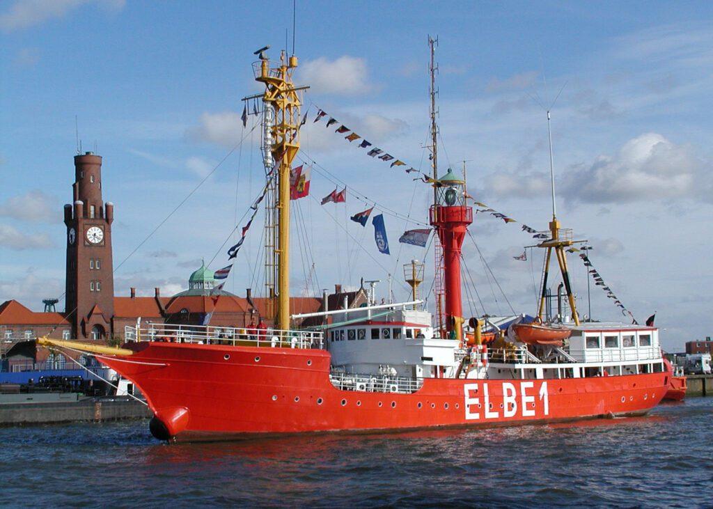 Elbe 1 ship in Cuxhaven