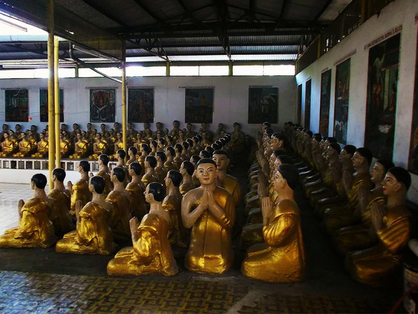Arhat statues at Wat Mek Prasit in Ipoh.