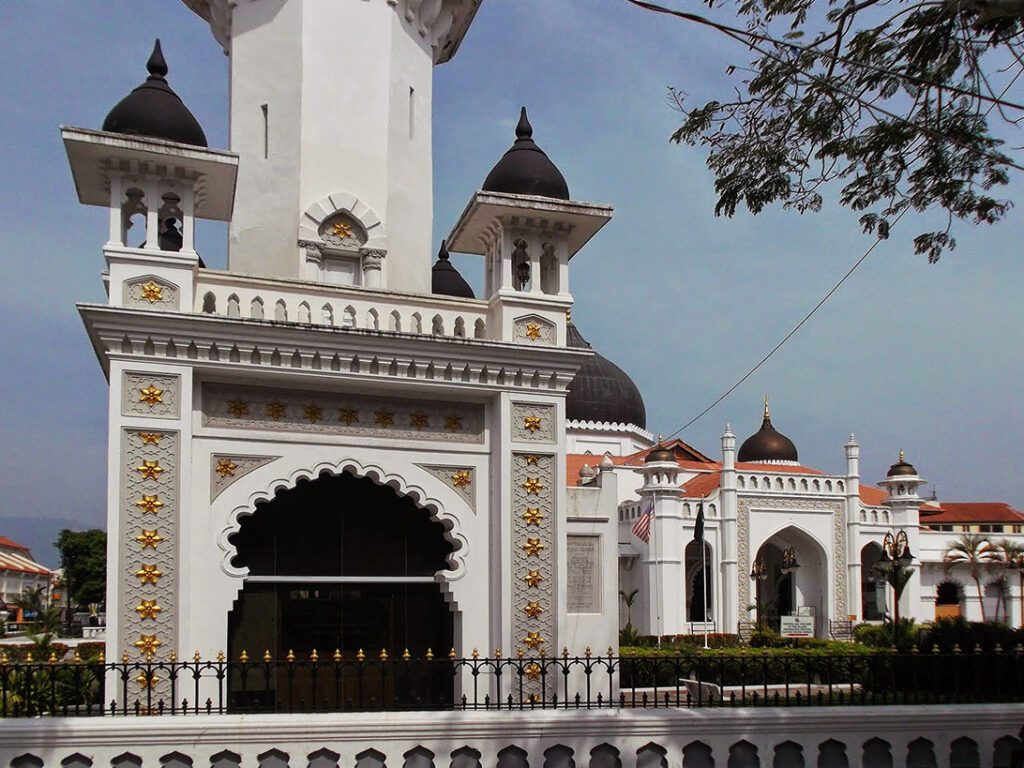 The Kapitan Keling Mosque, built in the 19th century by Indian Muslims.