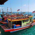 Fishing Boats around Pulau Perhentian in Malaysia