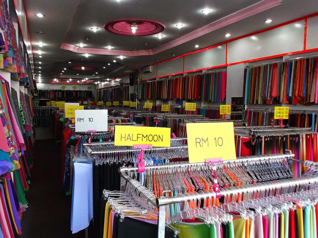 A headscarf store