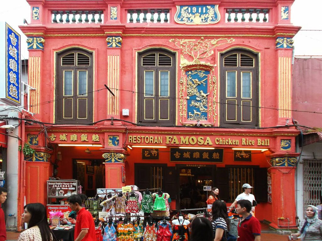 Traditional Chinese building in Malacca