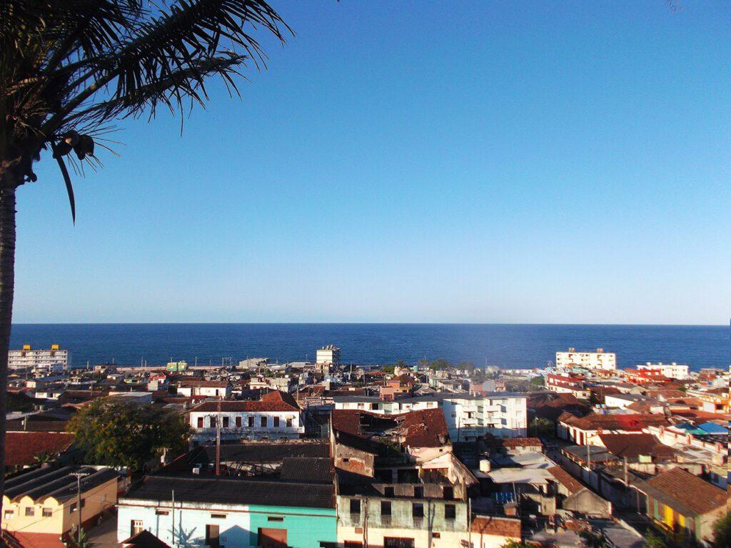 View of Baracoa and the Bahia de Miel, the Honey Bay, from the Hotel El Castillo.