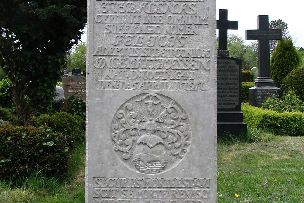 Tomb stone of Matthias Petersen on the island of Foehr