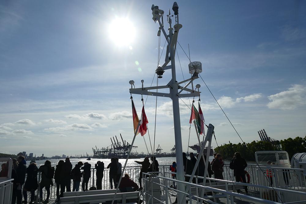 On the Catamaran from Hamburg to Heligoland