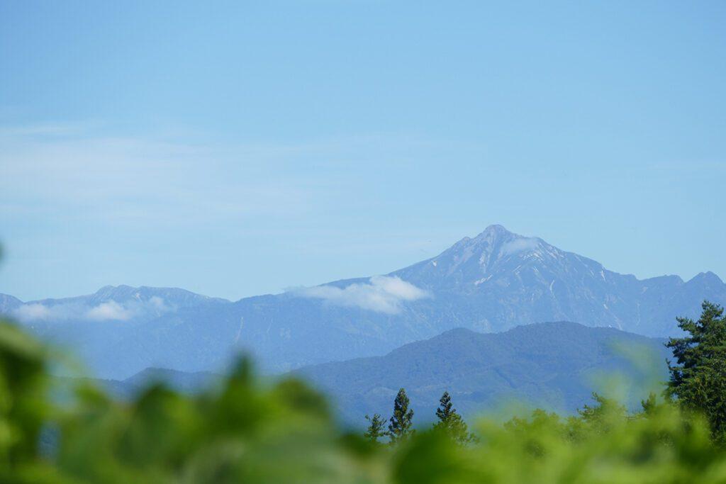 View of the Japanese Alps around Takayama.