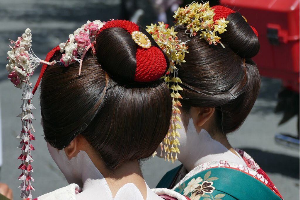Two Geishas at Kyoto