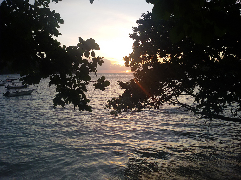 Sunset over Teluk Nipah